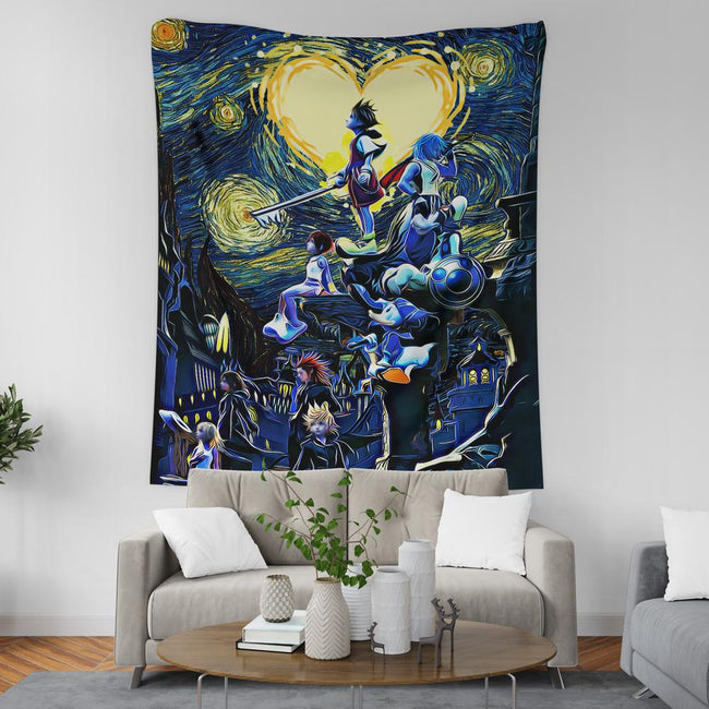 Kingdom Hearts Starry Night Wall Tapestry