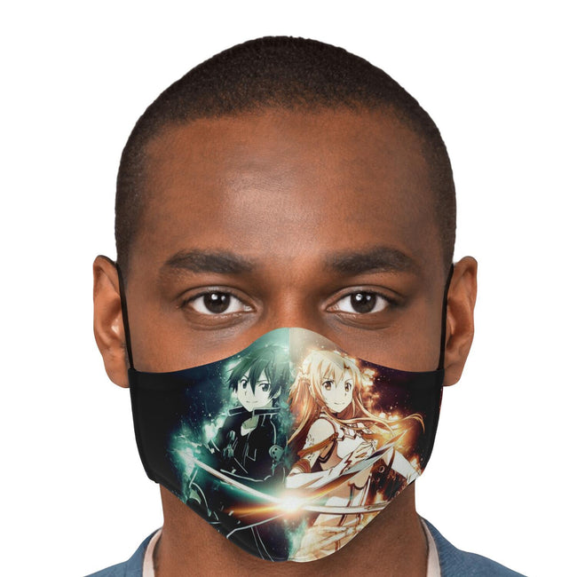 Kirito and Azuna V1 Sword Art Online Premium Carbon Filter Face Mask