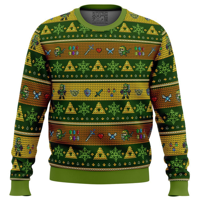Link Adventure The Legend of Zelda Premium Ugly Christmas Sweater