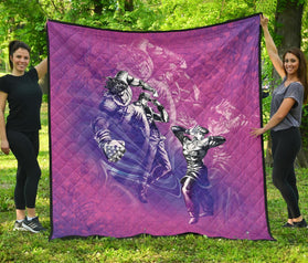 Lucid Diamond is Unbreakable Jojo's Bizarre Adventure Premium Quilt Blanket