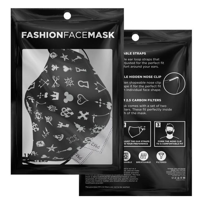 Magic Pattern V1 Kingdom Hearts Premium Carbon Filter Face Mask