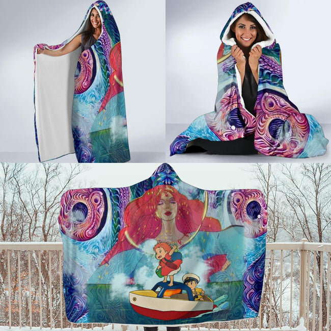 Magical Ponyo Hooded Blanket