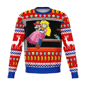 Mario Browser's Castle Premium Ugly Christmas Sweater