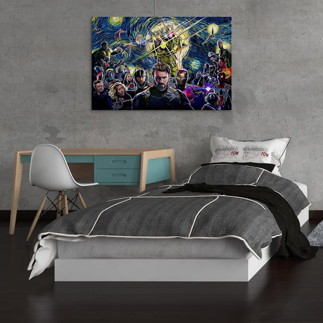 Marvel Starry Night Infinity War Canvas Wall Art