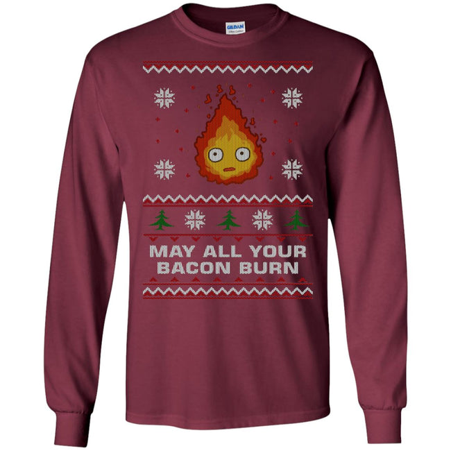 May All Your Bacon Burn Ugly Christmas Sweater