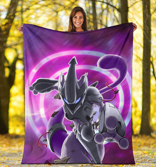 Mewto in Action Pokemon Blanket