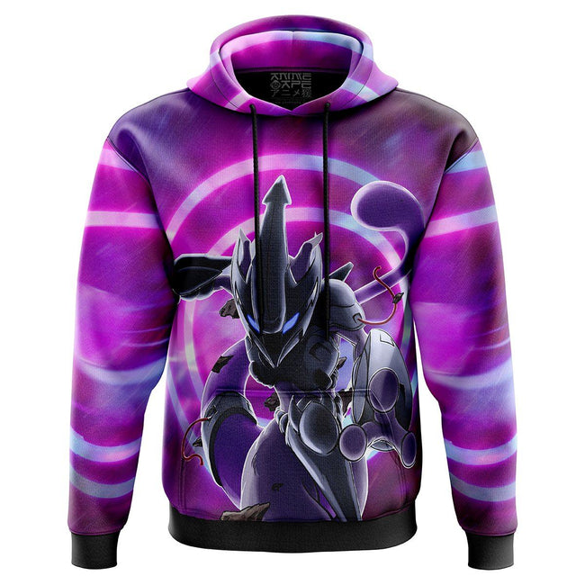 Mewto in Action Pokemon Hoodie