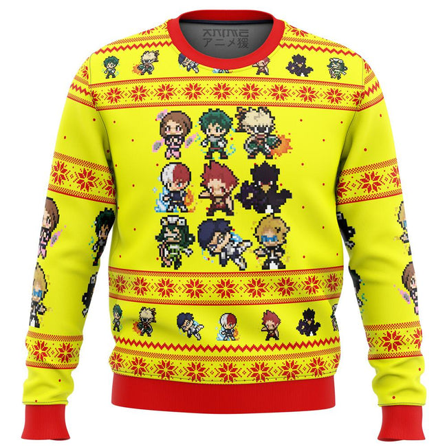 My Hero Academia Boku No Students Premium Ugly Christmas Sweater