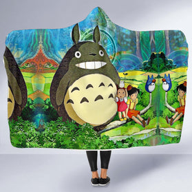 My Neighbor Totoro Hooded Blanket