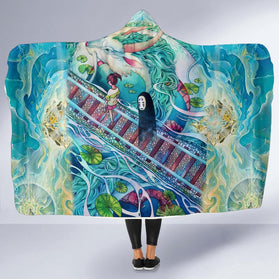 Mythical spirited away 2 Hooded Blanket