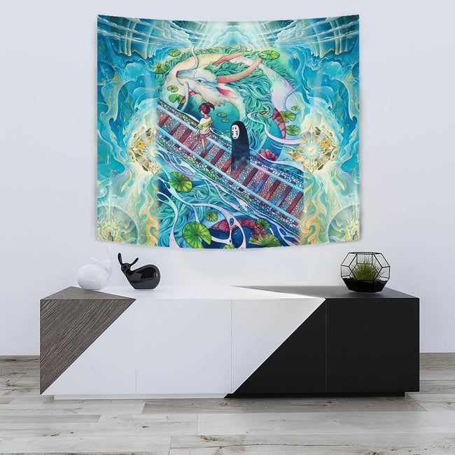 Mythical spirited away Tapestry