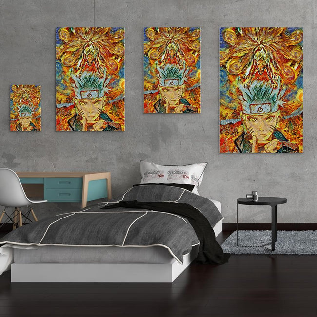 Naruto Starry Night Ninetails Canvas Wall Art
