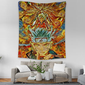 Naruto Starry Night Ninetails Wall Tapestry