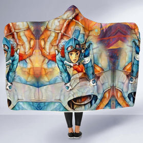 Nausicaa of the Valley of the Wind Hooded Blanket