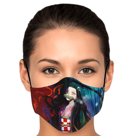Nezuko Pattern V4 Demon Slayer Premium Carbon Filter Face Mask