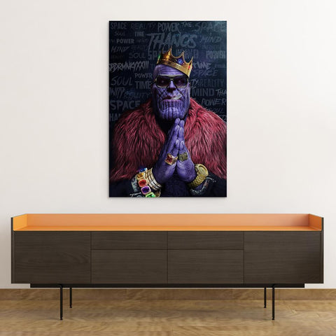 Image of Notorious Titan - Thanos Biggie Smalls Rick Ross Inspired Thug Life Canvas Wall Art Poster