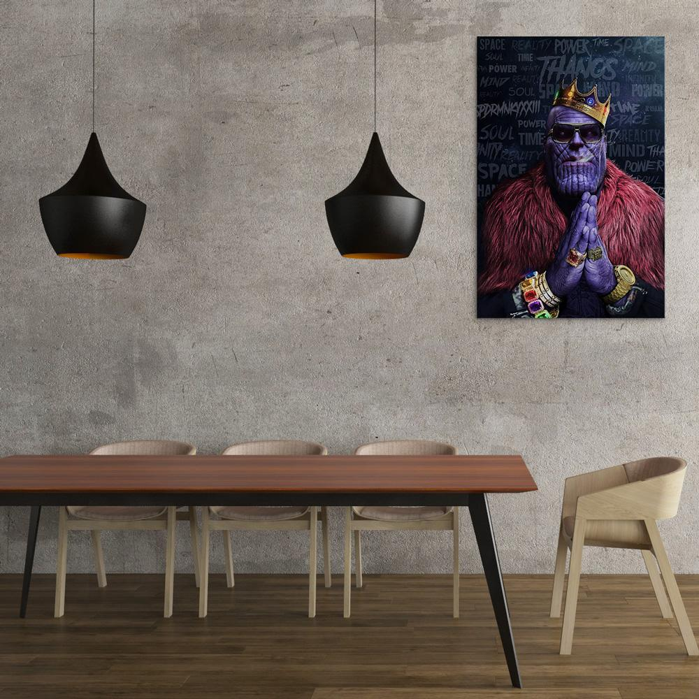 Notorious Titan - Thanos Biggie Smalls Rick Ross Inspired Thug Life Canvas Wall Art Poster