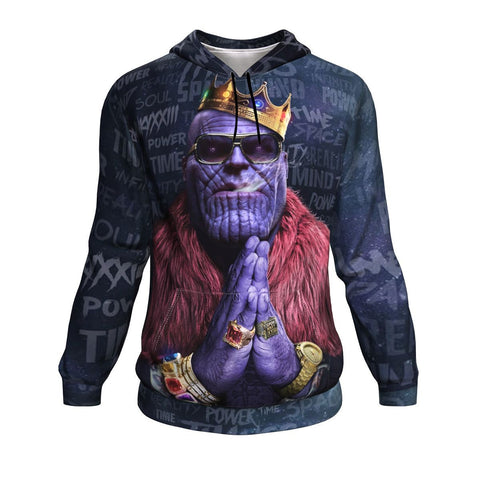 Image of Notorious Titan - Thanos Biggie Smalls Rick Ross Inspired Thug Life Hoodie