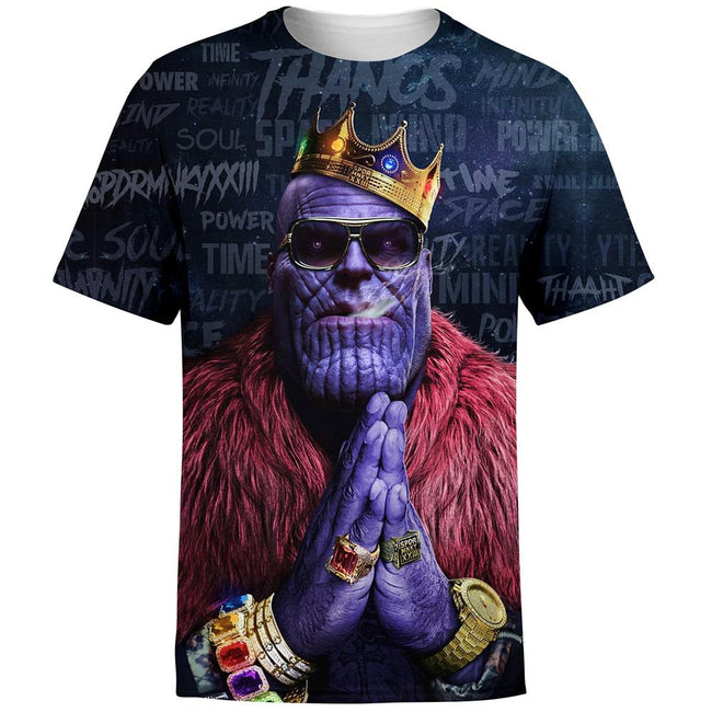 Notorious Titan - Thanos Biggie Smalls Rick Ross Inspired Thug Life T-Shirt