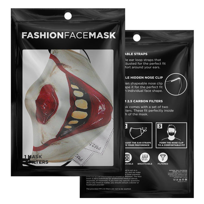 Pennywise Iconic Horror Mask Premium Carbon Filter Face Mask