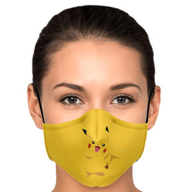 Picachu Pokémon Premium Carbon Filter Face Mask