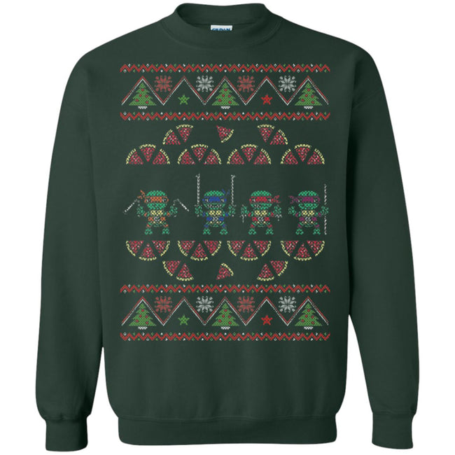 Pizza Turtles Ugly Christmas Sweater