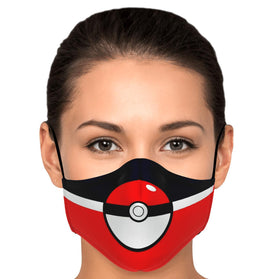 Pokémon Ball V1 Pokémon Premium Carbon Filter Face Mask