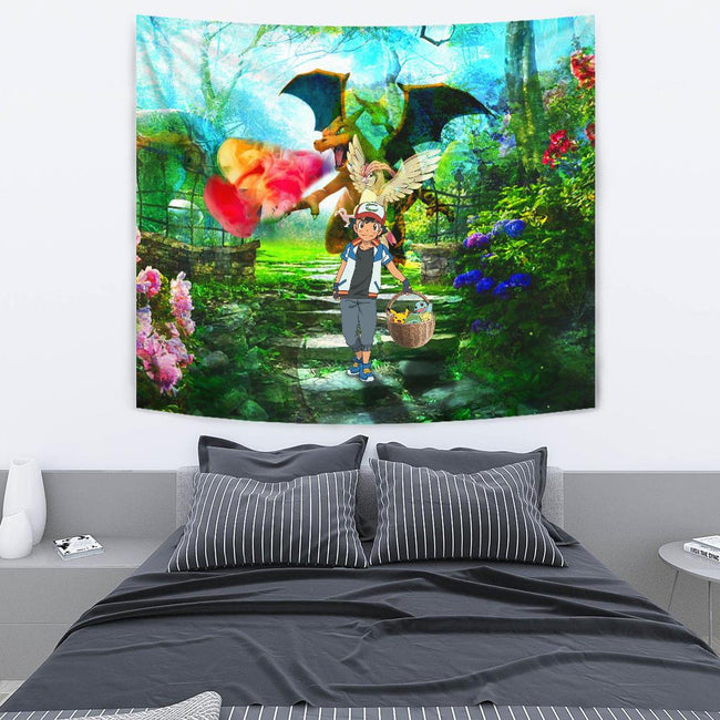 Pokemon Basket Wall Tapestry