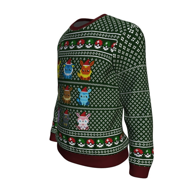 Pokemon Eevee 3D Ugly Christmas Sweater