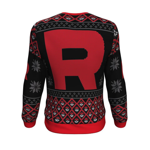 Image of Pokemon Rocket 3D Ugly Christmas Sweater