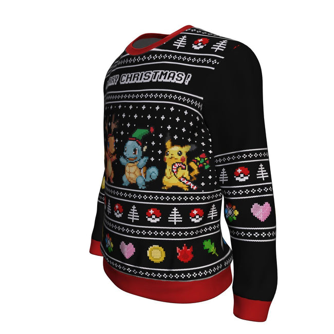 Pokemon Starters 3D Ugly Christmas Sweater