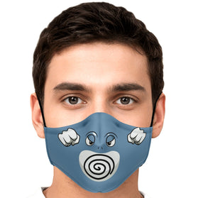 Poliwrath Pokémon Premium Carbon Filter Face Mask