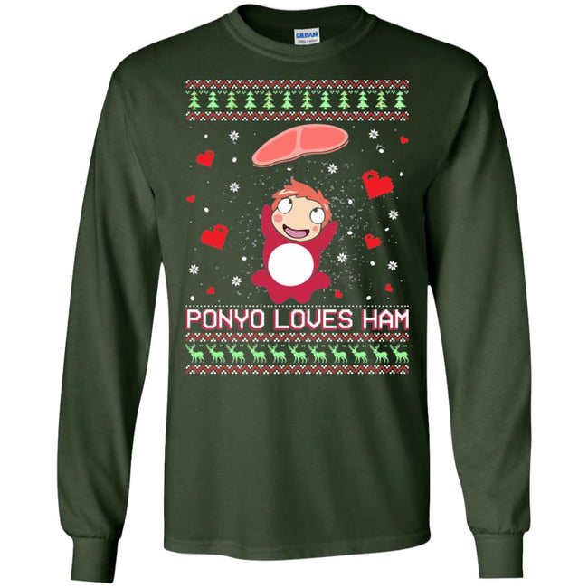 Ponyo Loves Ham Ugly Christmas Sweater