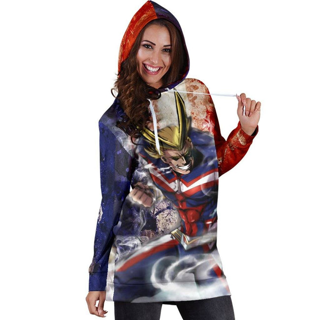 Power All Might Hoodie Dress