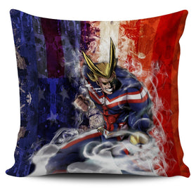 Power All Might Pillow Cover