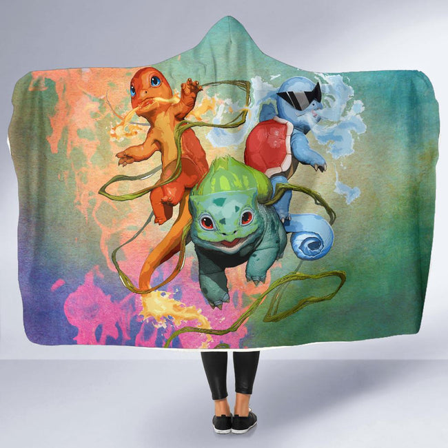 Power Pokemon Attack Hooded Blanket
