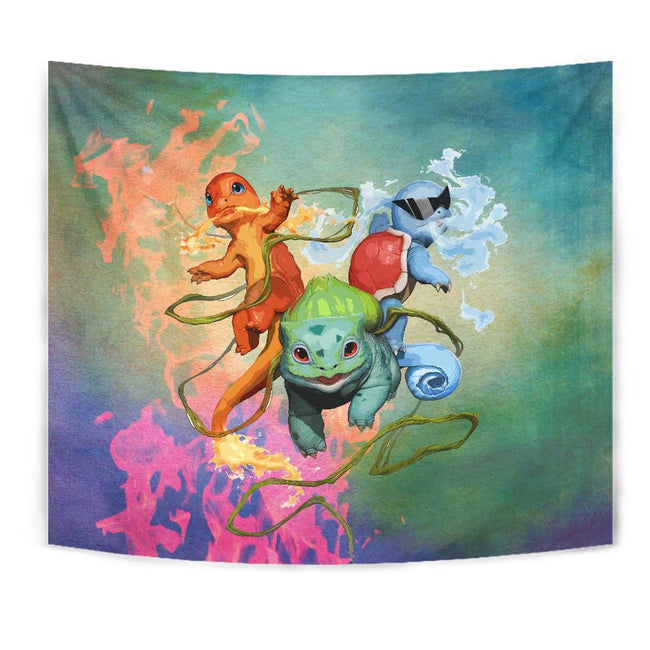 Power Pokemon Attack Wall Tapestry