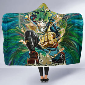 Raging Deku Hooded Blanket