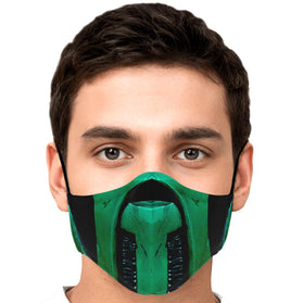 Reptile Mask Mortal Kombat Premium Carbon Filter Face Mask