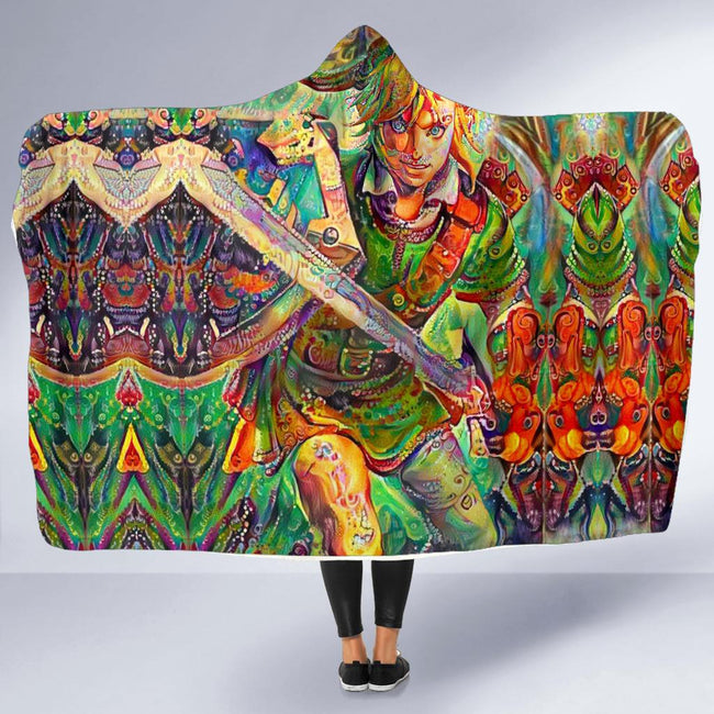 Retro Zelda Hooded Blanket