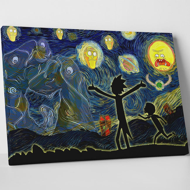 Canvas Art Rick And Morty Painting Easy