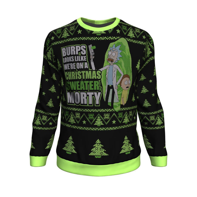 Rick and Morty We're In a Xmas Sweater 3D Ugly Christmas Sweater