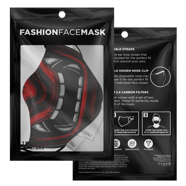 Samurai Mask V2 Tenchu Premium Carbon Filter Face Mask