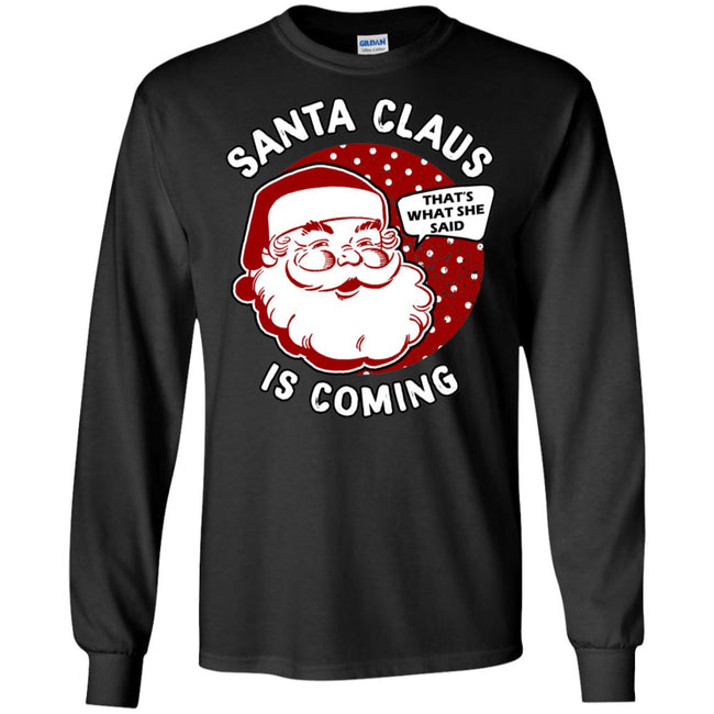 Santa Is Coming Ugly Christmas Sweater