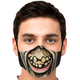 Scary Face Zombie Tokyo Ghoul Premium Carbon Filter Face Mask