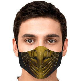 Scorpion Mask Mortal Kombat Premium Carbon Filter Face Mask