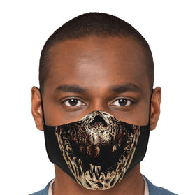 Scorpion Skull Mortal Kombat Premium Carbon Filter Face Mask