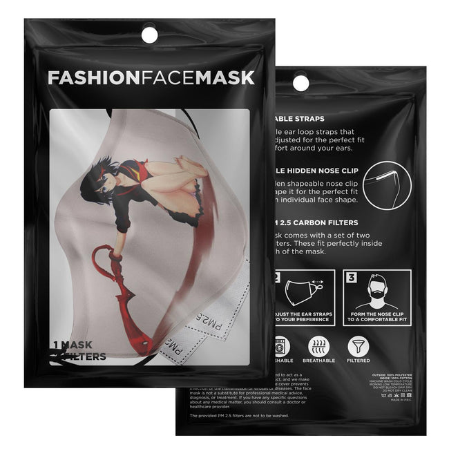Setting Ryuko Kill la Kill Premium Carbon Filter Face Mask