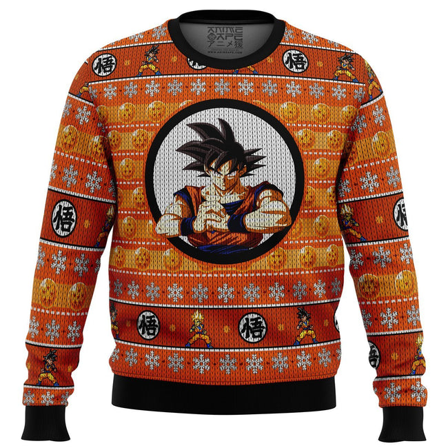 Son Guko Dragonball Z Premium Ugly Christmas Sweater