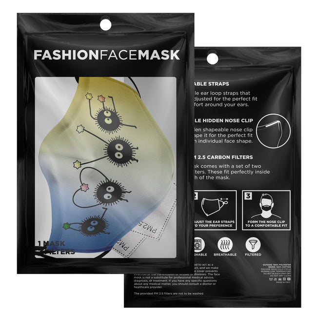 Soot Sprite Spirited Away Premium Carbon Filter Face Mask